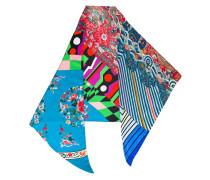 clashing prints scarf - women - Seide