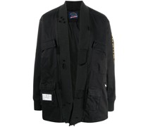 Offene Jacke mit Patches