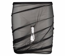 Runway draped tulle shorts