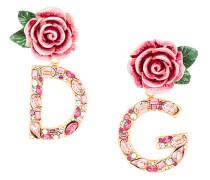 'DG' Ohrclips mit Rosen-Design