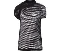 Netz-T-Shirt mit drapiertem Detail