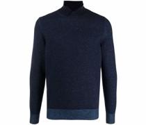 Pullover mit Kragenschlitz