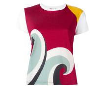 T-Shirt mit Wellen-Print - women - Baumwolle - S