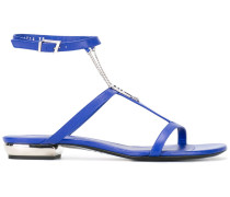 Sandalen mit Zierkette - women - Leder/Metall