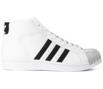 High-Top-Sneakers mit silberfarbener