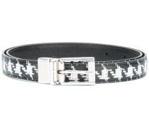houndstooth print belt