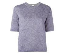 metallic motif knitted T-shirt