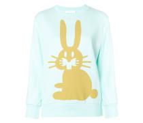Sweatshirt mit Kaninchen-Print