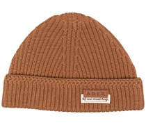 layered label beanie