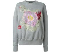 Sweatshirt mit Blumenstickereien