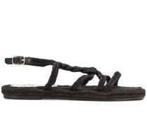 Gewebte Sandalen mit Riemen