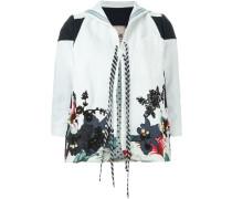 Jacke mit Blumenstickerei