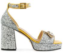 glitter bee sandals