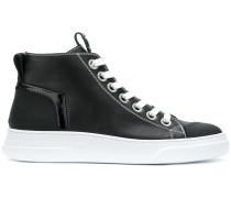 High-Top-Sneakers mit Kontrastnähten