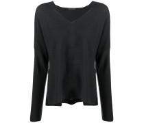 Lockerer Pullover mit V-Ausschnitt