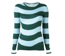 Pullover mit gewellten Streifen