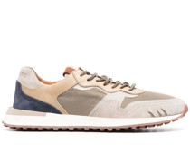 tonal panelled trainers