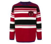 patch striped jumper
