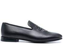 Loafer aus strukturiertem Leder