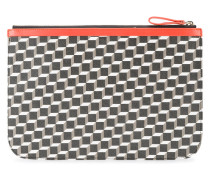 Große 'Perspective Cube' Clutch - unisex