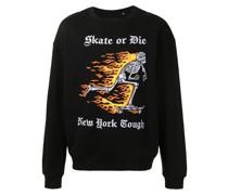 Sweatshirt mit grafischer Stickerei