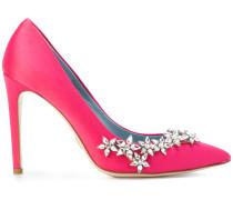 embellished pointed toe pumps