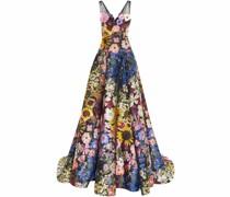 Jacquard-Robe mit Blumenmuster