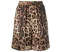 Shorts mit Leo-Print