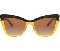 Zweifarbige Oversized-Sonnenbrille