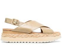 Sandalen mit geriffelter Sohle