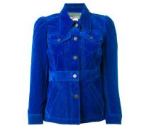 - Cropped-Jacke mit spitzem Kragen - women
