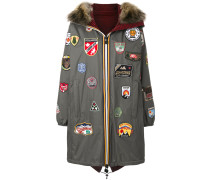 K-Way badge patch hooded coat