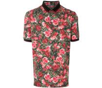 floral short-sleeve polo shirt