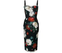 floral print bustier dress