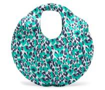 leopard-print circular bag