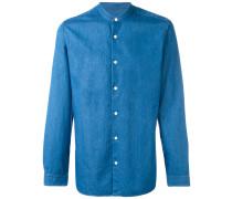 Chambray-Hemd ohne Kragen - men - Baumwolle - M