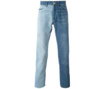 Zweifarbige Jeans mit Waschung