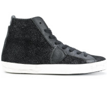 'Paris H D' High-Top-Sneakers mit Glitzereffekt