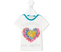 T-Shirt mit Herz-Print - kids - Baumwolle