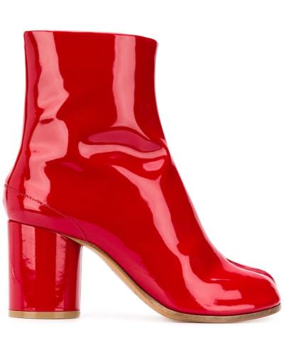 Tabi-Stiefel aus Lackleder