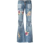 Ausgestellte Jeans in Distressed-Optik - women