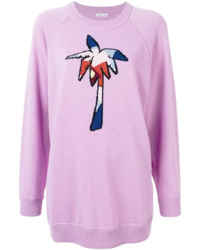 Pullover mit Palmen-Stickerei