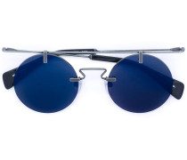 Sonnenbrille mit rundem Gestell - men - Acetat