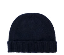 beanie with ribbed trim