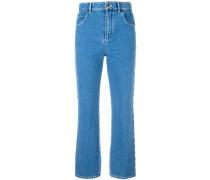 Jeans mit gewellten Kanten
