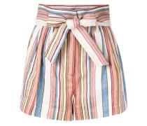 Paperbag-Shorts mit Streifen