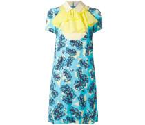 Kleid mit barockem Federn-Print