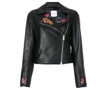 Biker-Jacke mit Stickerei