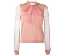 Pullover mit Tüll-Schleife
