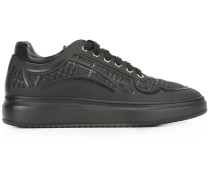contrast panel lace-up sneakers